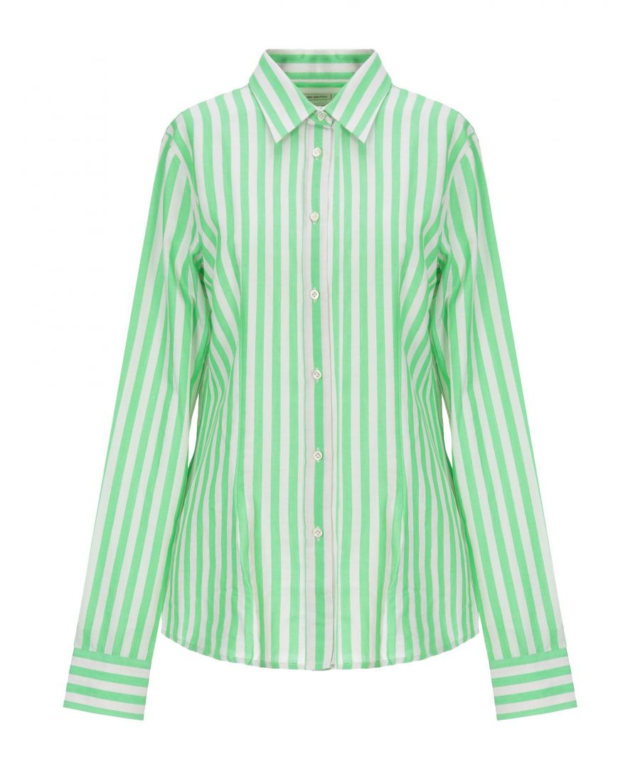 Image for Mauro Grifoni Light Green Stripe Cotton Shirt