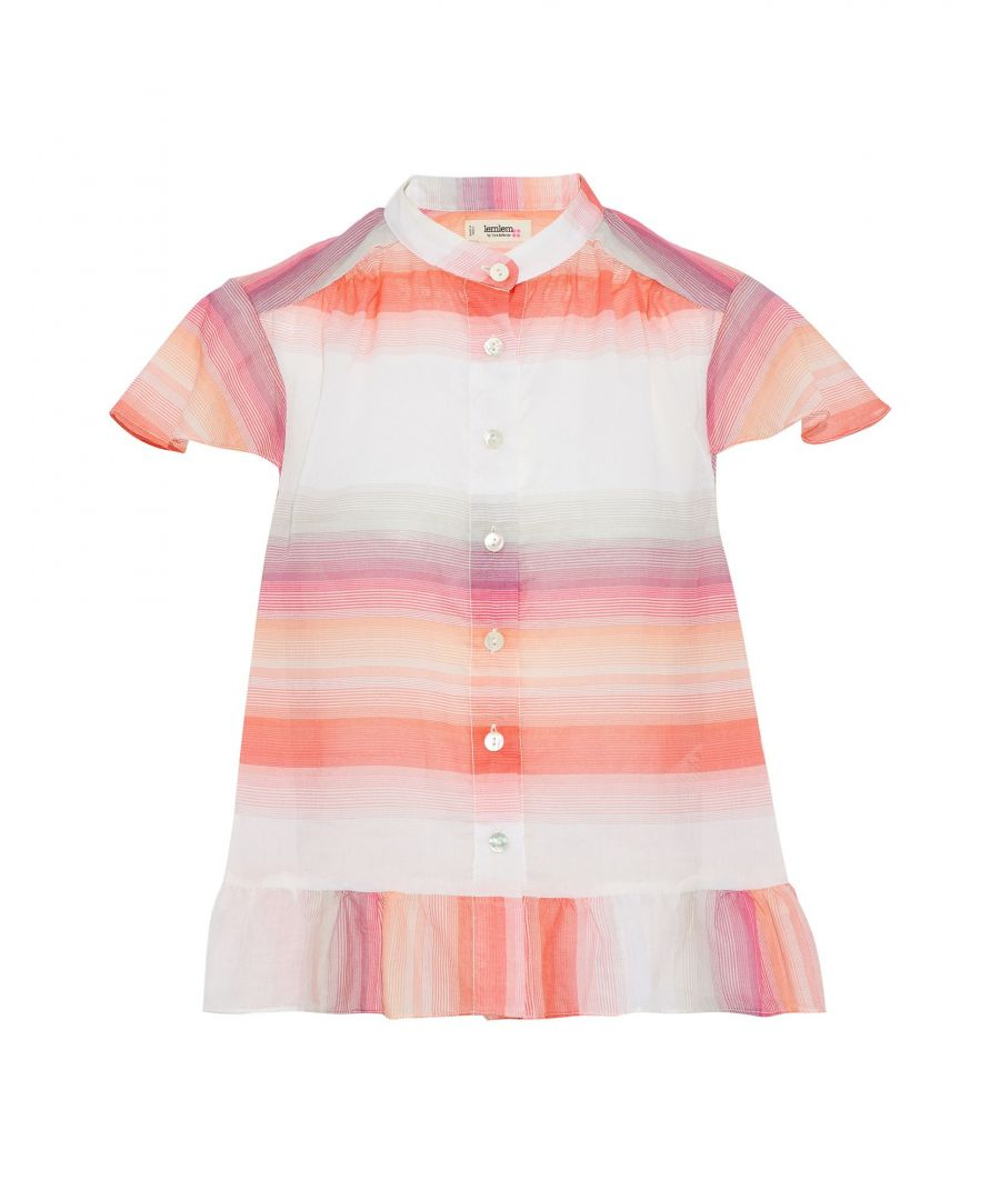 Image for Lemlem Coral Stripe Cotton Shirt