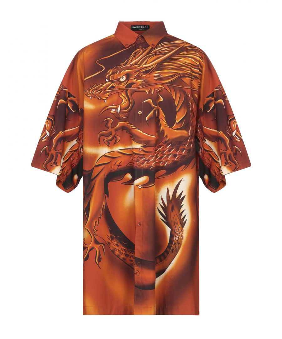 Image for Balenciaga Rust Cotton Short Sleeve Shirt