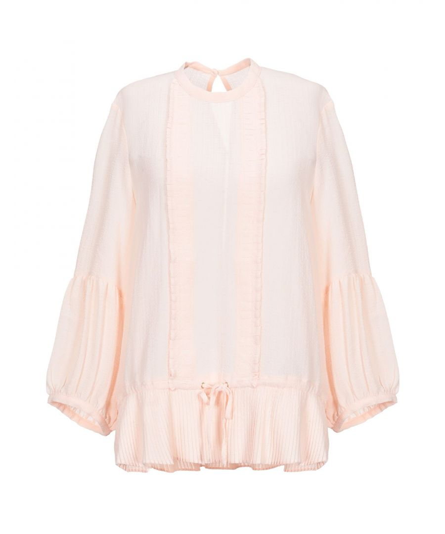 Image for Sessun Pink Crepe Blouse