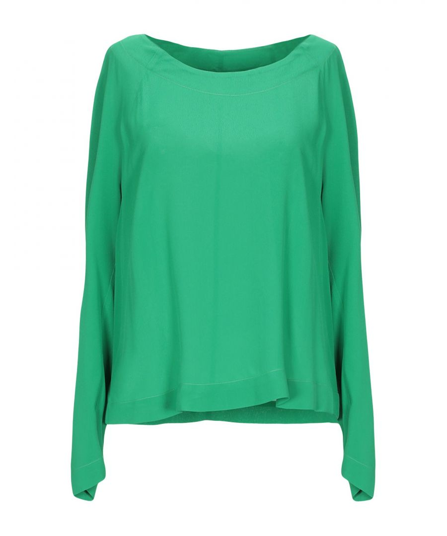 Image for Attic And Barn Green Crepe Blouse