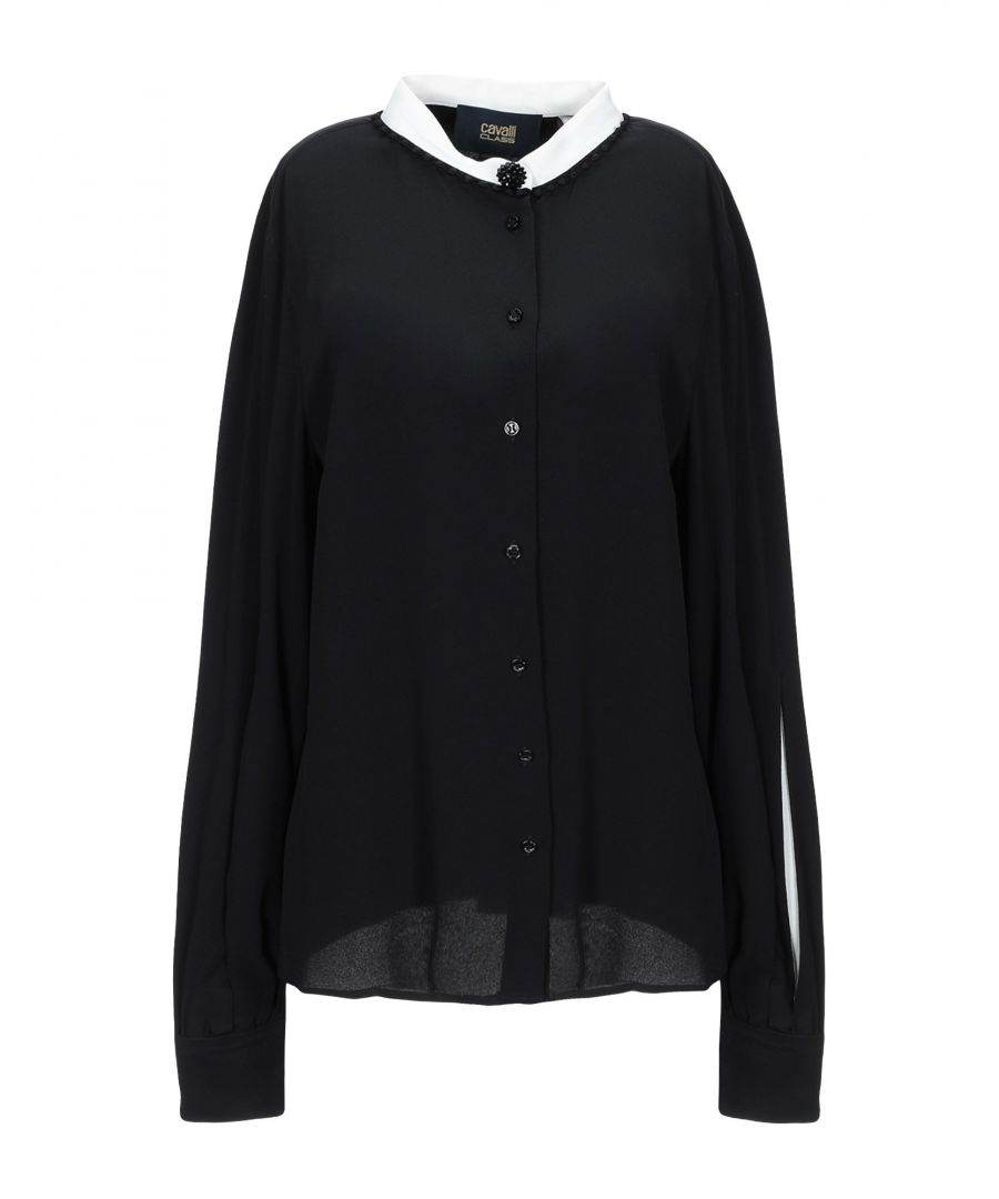 Image for Cavalli Class Black Crepe Blouse