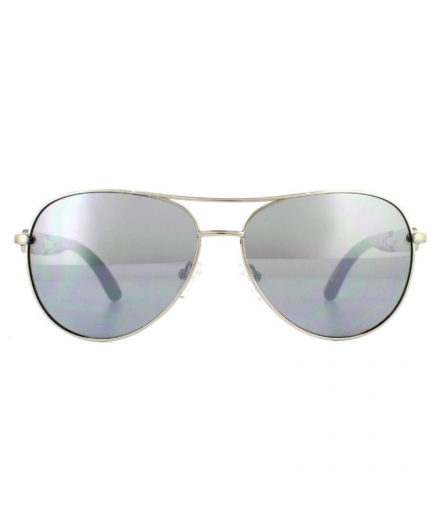 Image for Guess Sunglasses GG1152 10C Shiny Light Nickeltin Smoke Grey Mirror