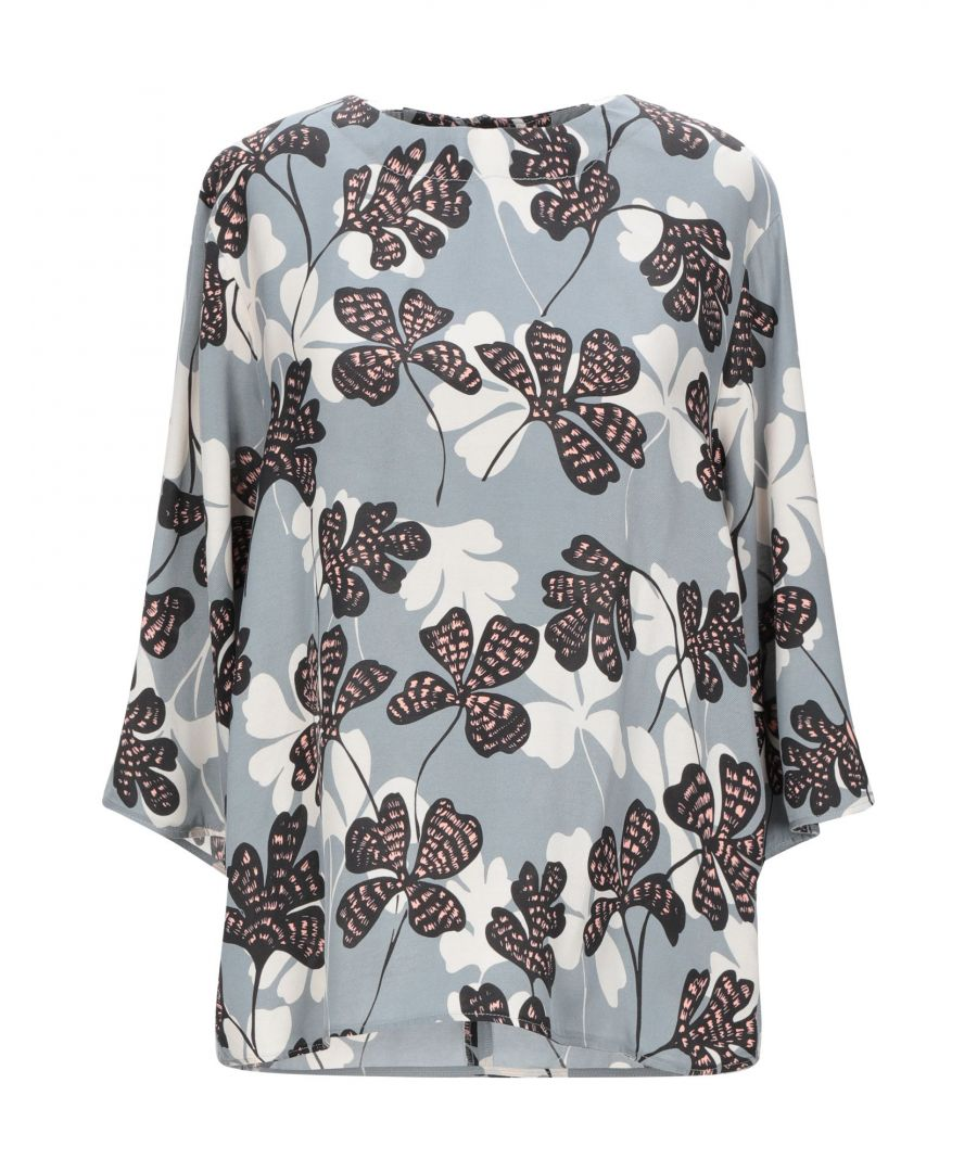 Image for Alysi Grey Print Silk Blouse