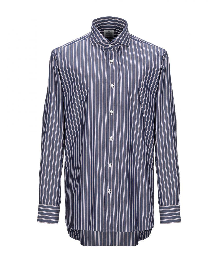 Image for Luigi Borrelli Napoli Blue Stripe Cotton Shirt