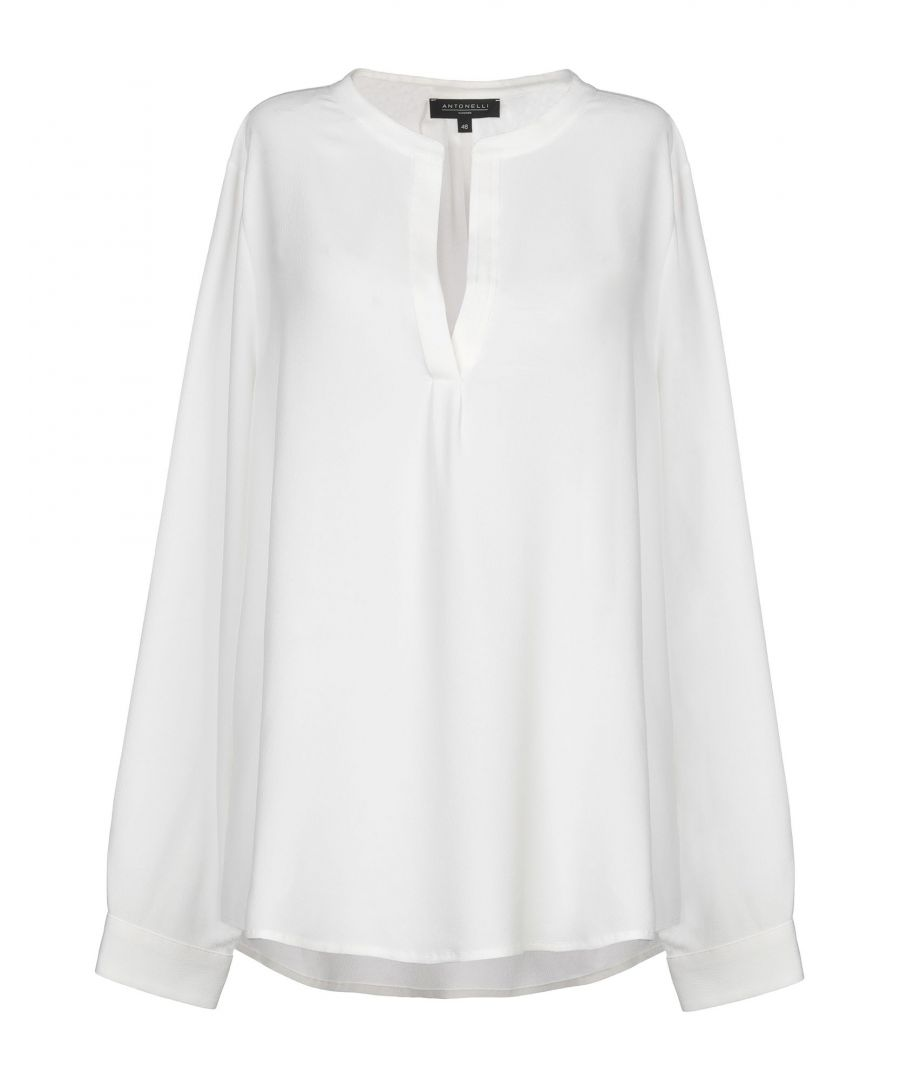 Image for Antonelli White Silk Blouse