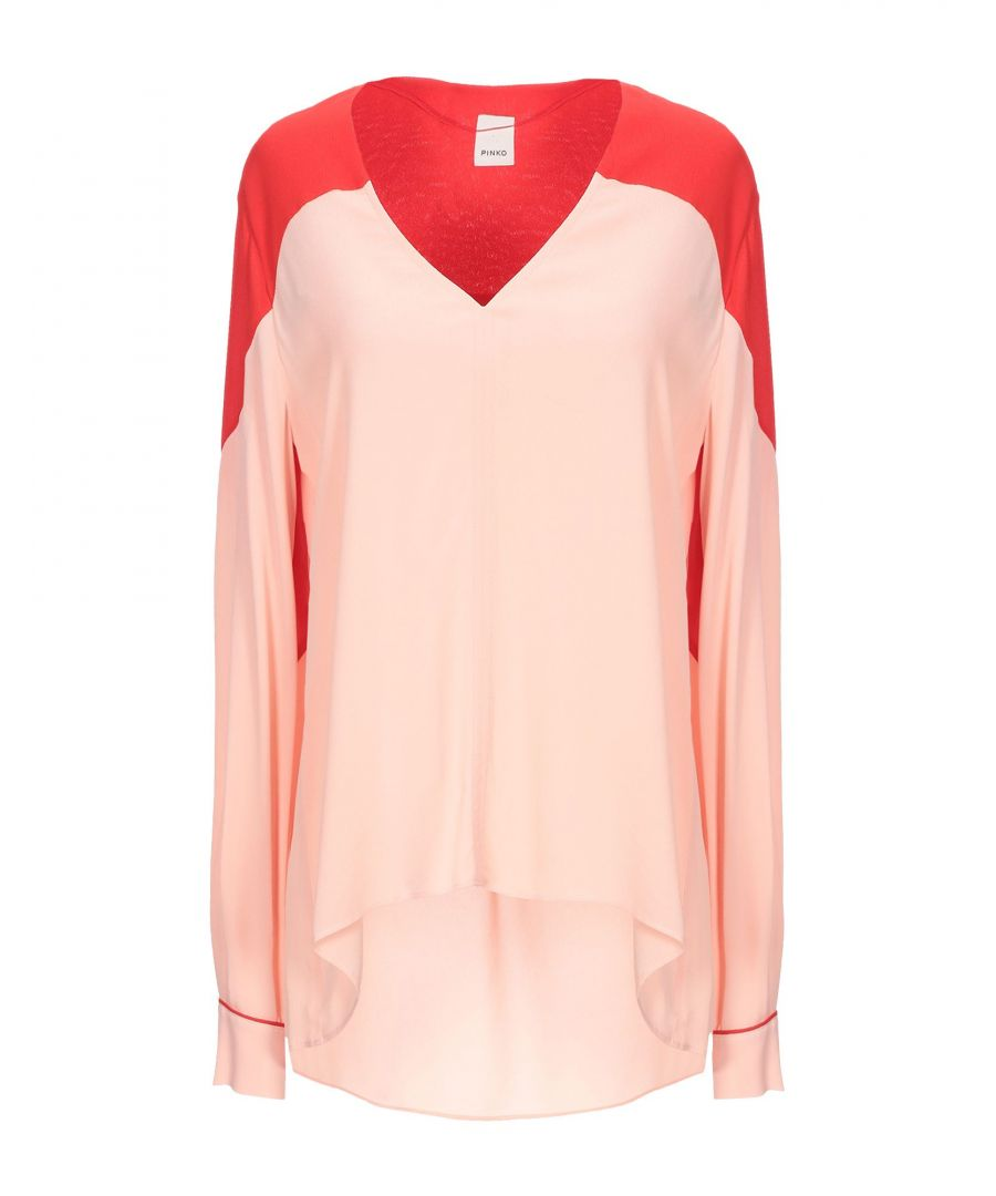 Image for Pinko Pink Crepe Long Sleeve Blouse