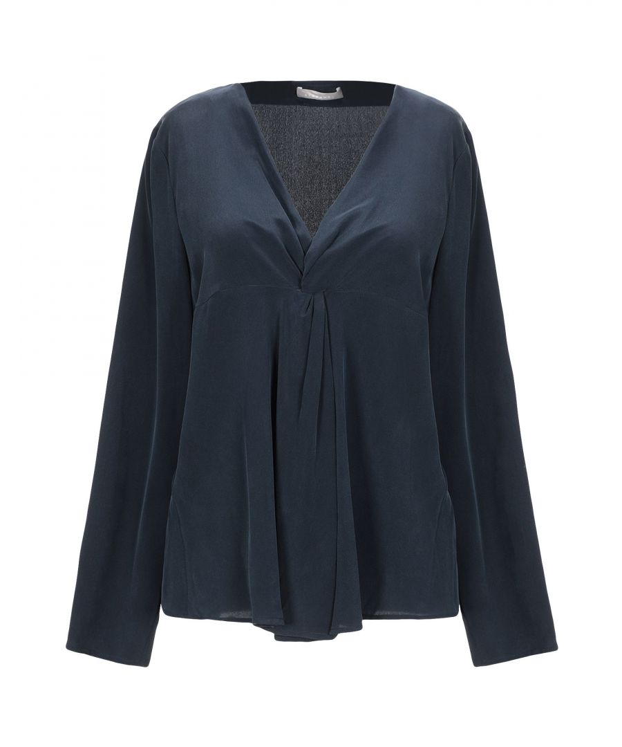 Image for Stefanel Dark Blue Silk Blouse