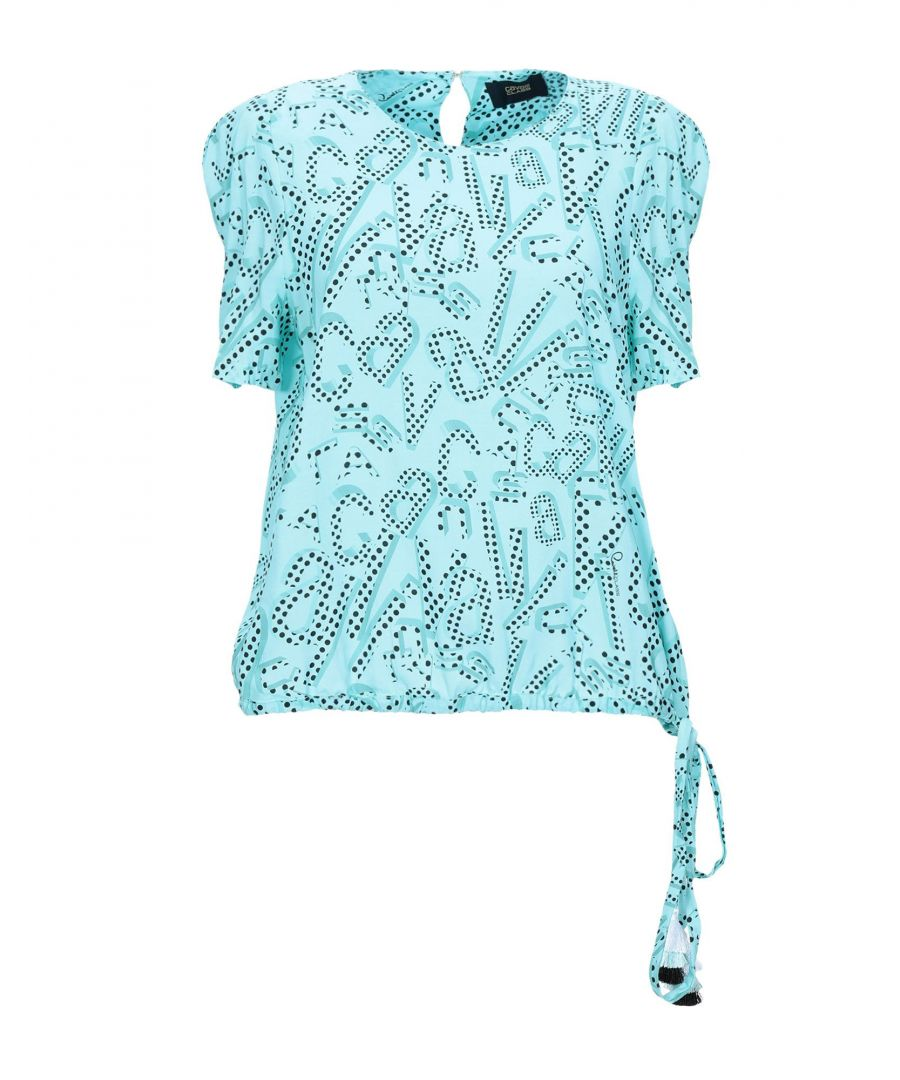 Image for Cavalli Class Turquoise Cotton Blouse