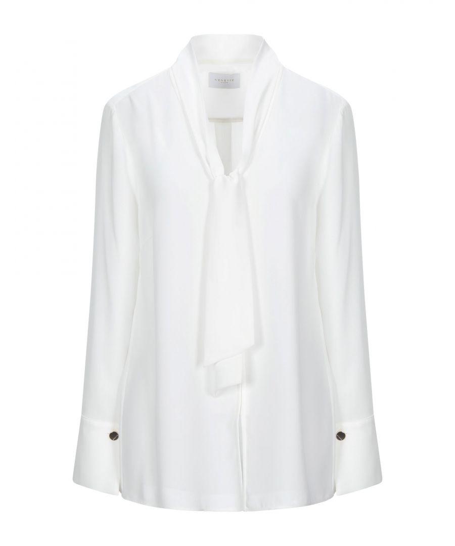 Image for Nenette White Crepe Bow Collar Blouse