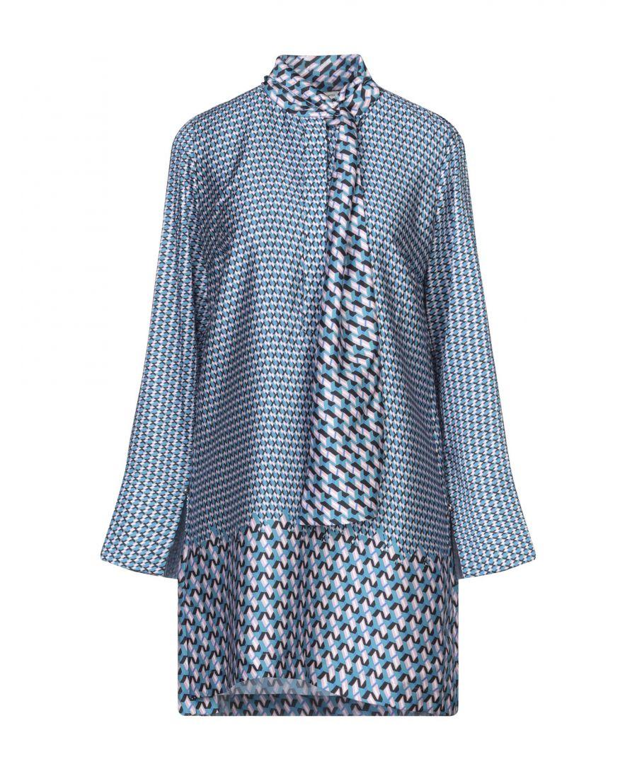 Image for Nenette Turquoise Pattern Blouse