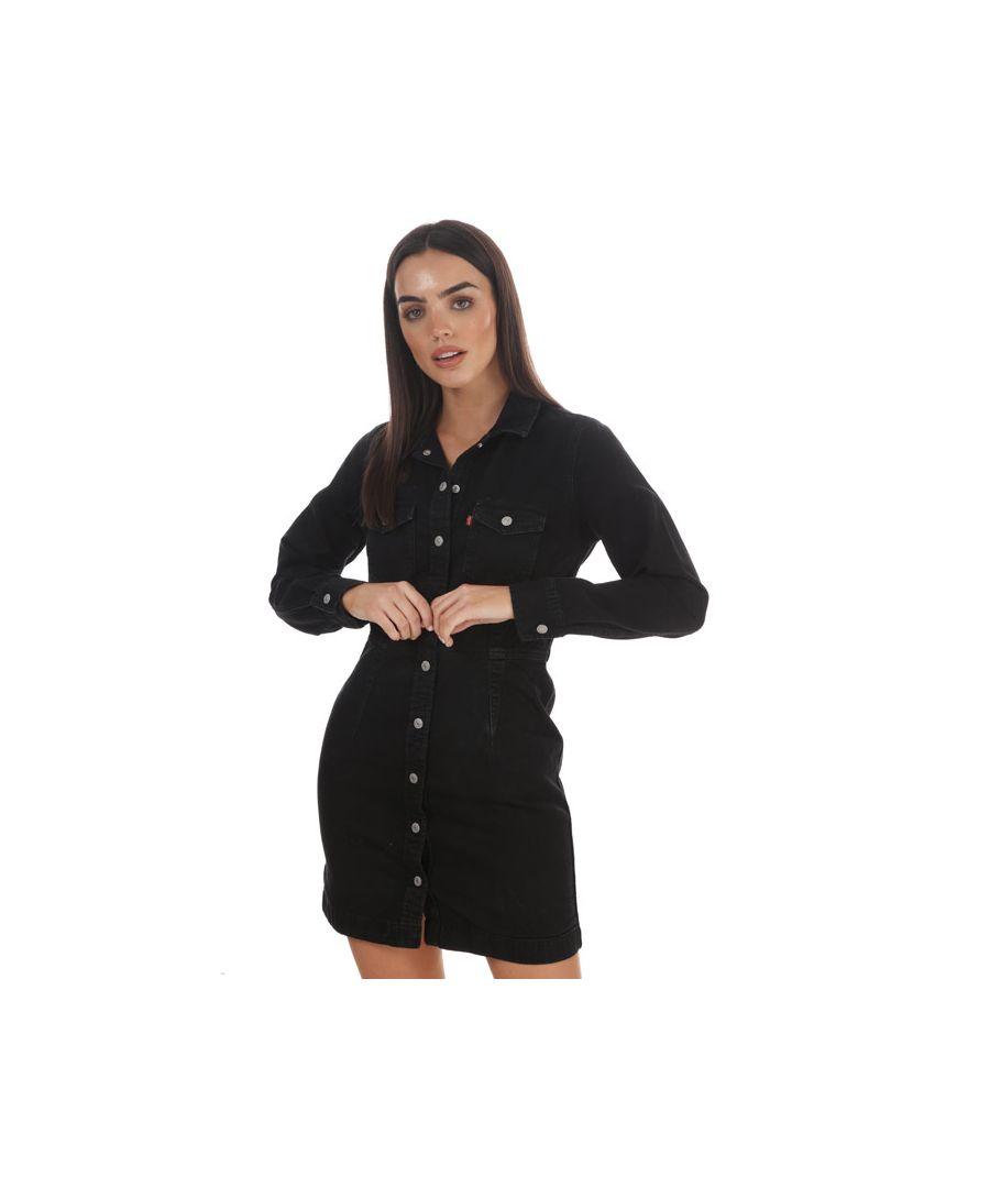 Image for Women's Levis Ellie Denim Dress Black 6in Black
