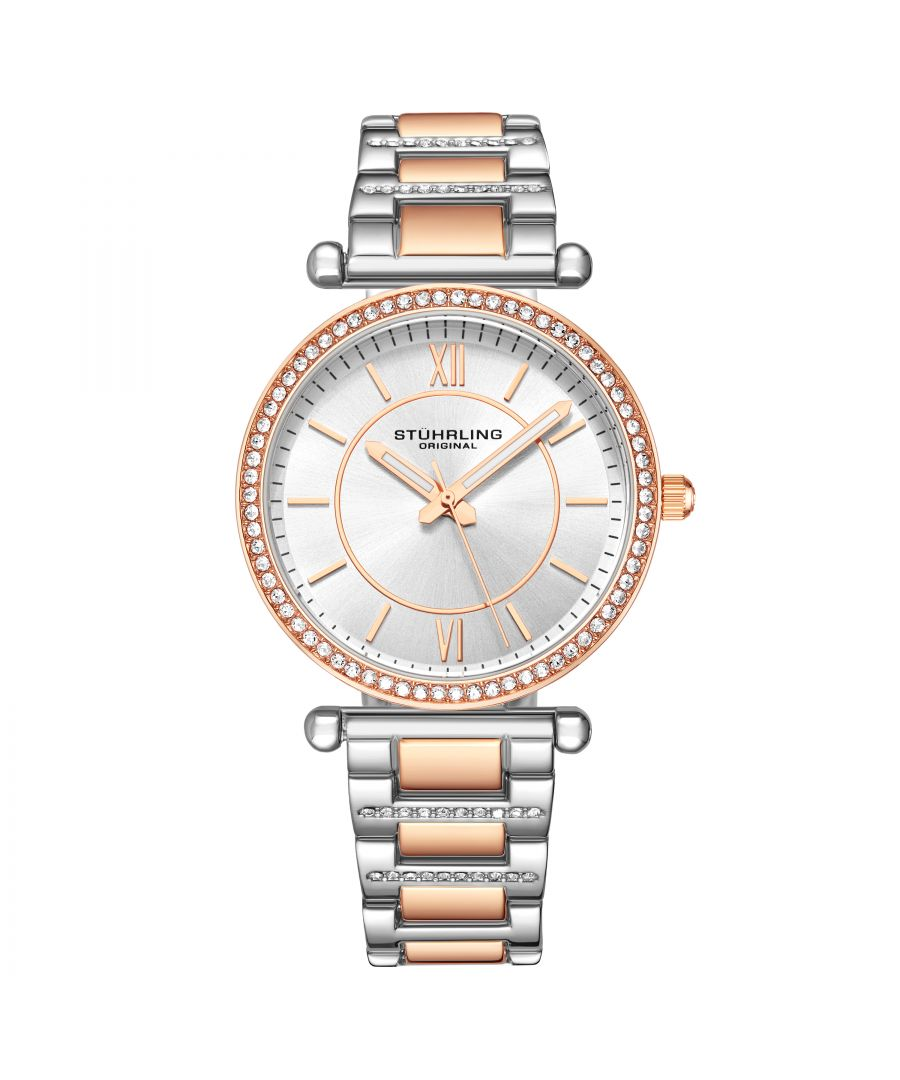 Image for Rose Gold and Silver Aria Quartz 36mm