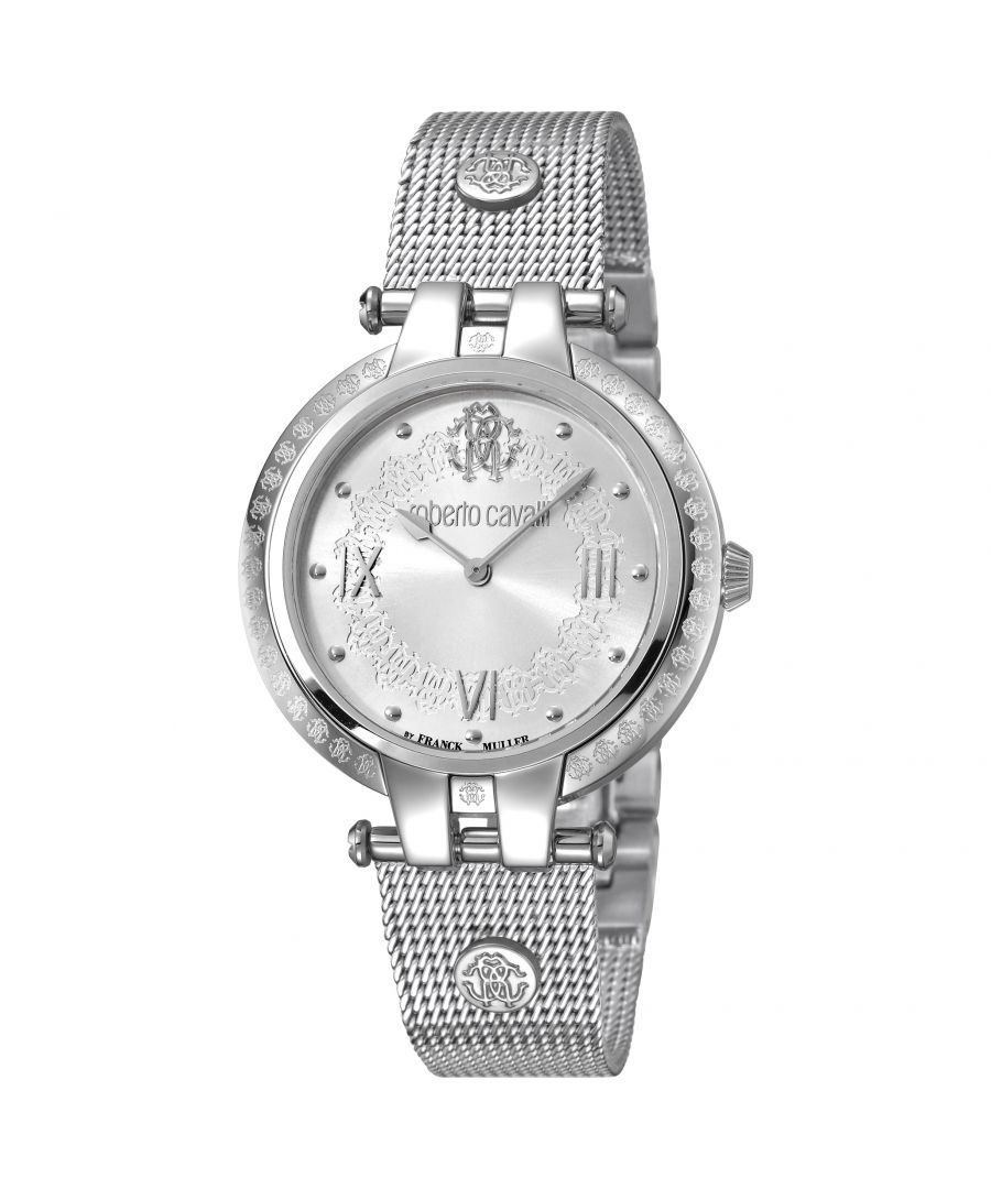 Image for Roberto Cavalli RV1L053M0056 Womens Silver dial Stainless Steel Mesh Watch