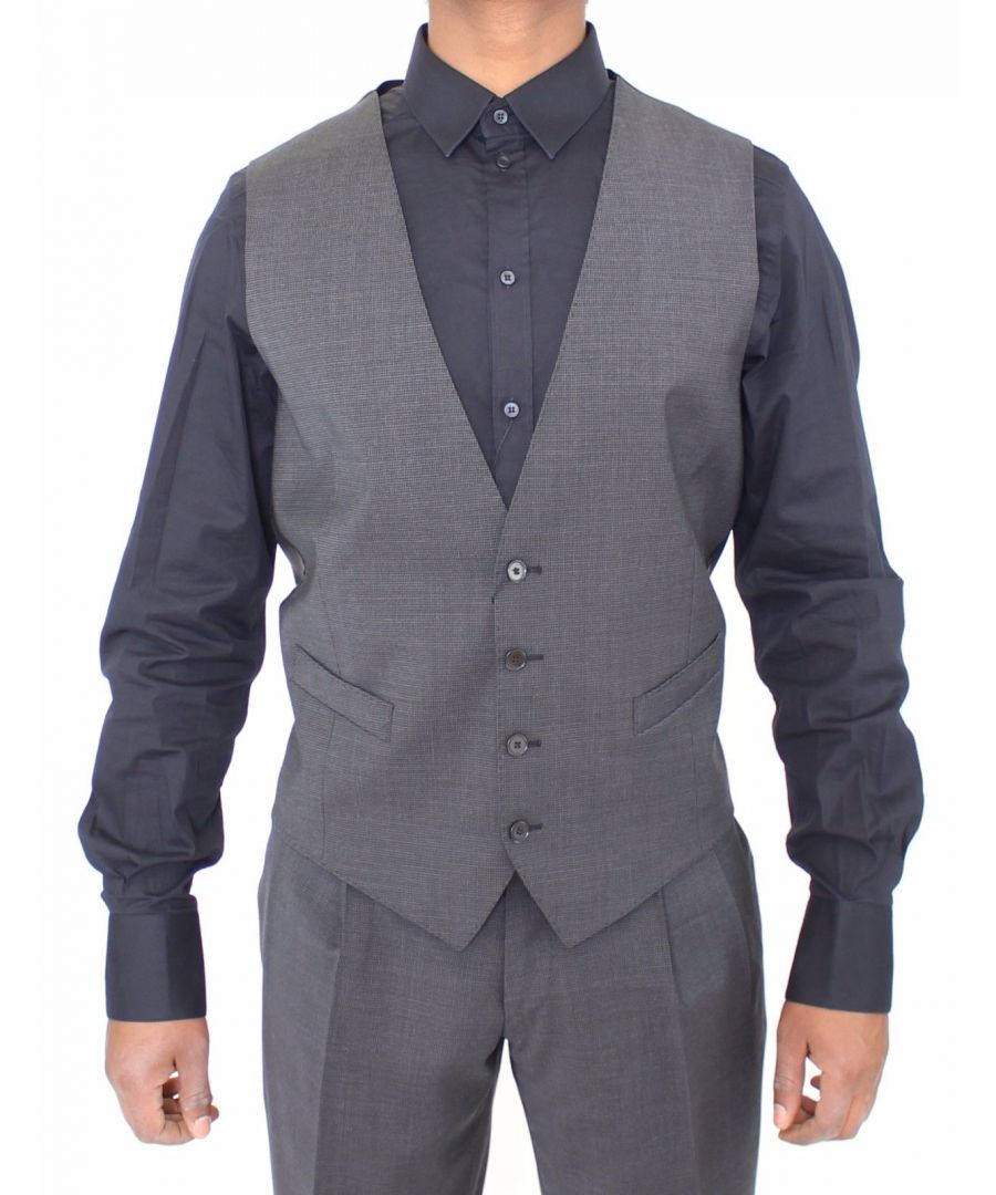 Image for Dolce & Gabbana Gray Stretch Formal Dress Vest Gilet