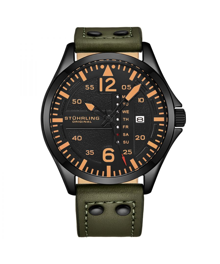 Image for Khaki Green Aviator Quartz 44mm