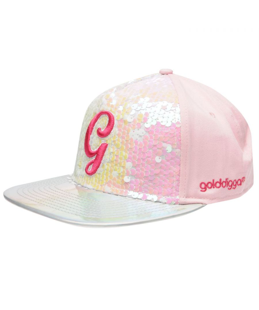 Image for Golddigga Kids Girls Snapback Junior Flat Peak Cap Ventilation Panel Design