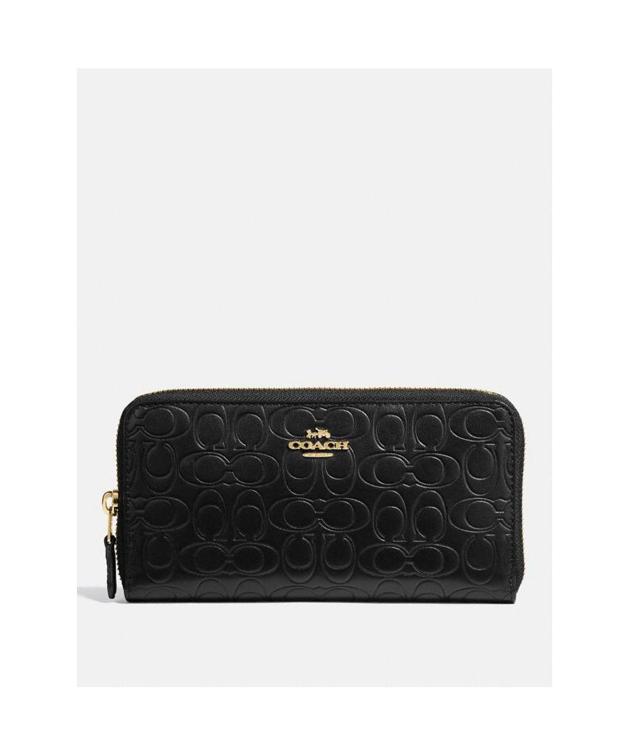 Image for COACH Accordion Zip Wallet In Signature Leather