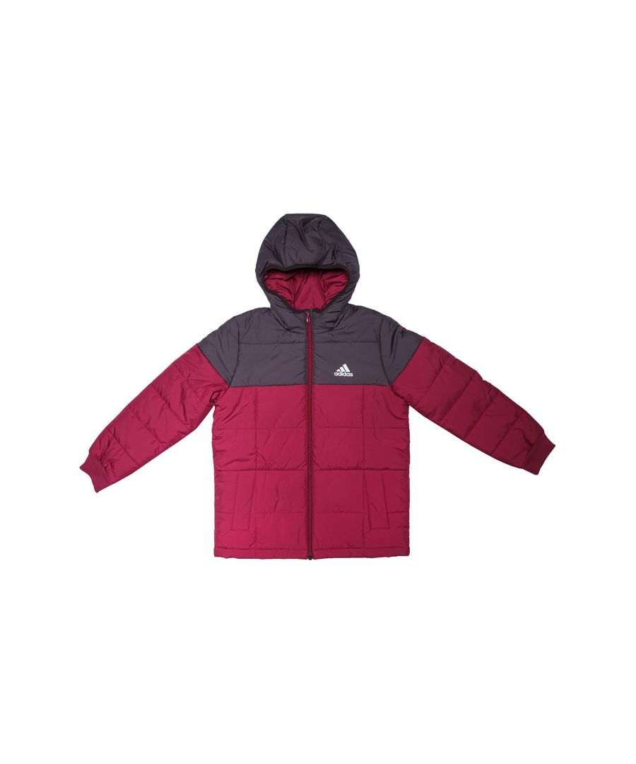 Image for Girl's adidas Junior Midweight Padded Jacket in Berry