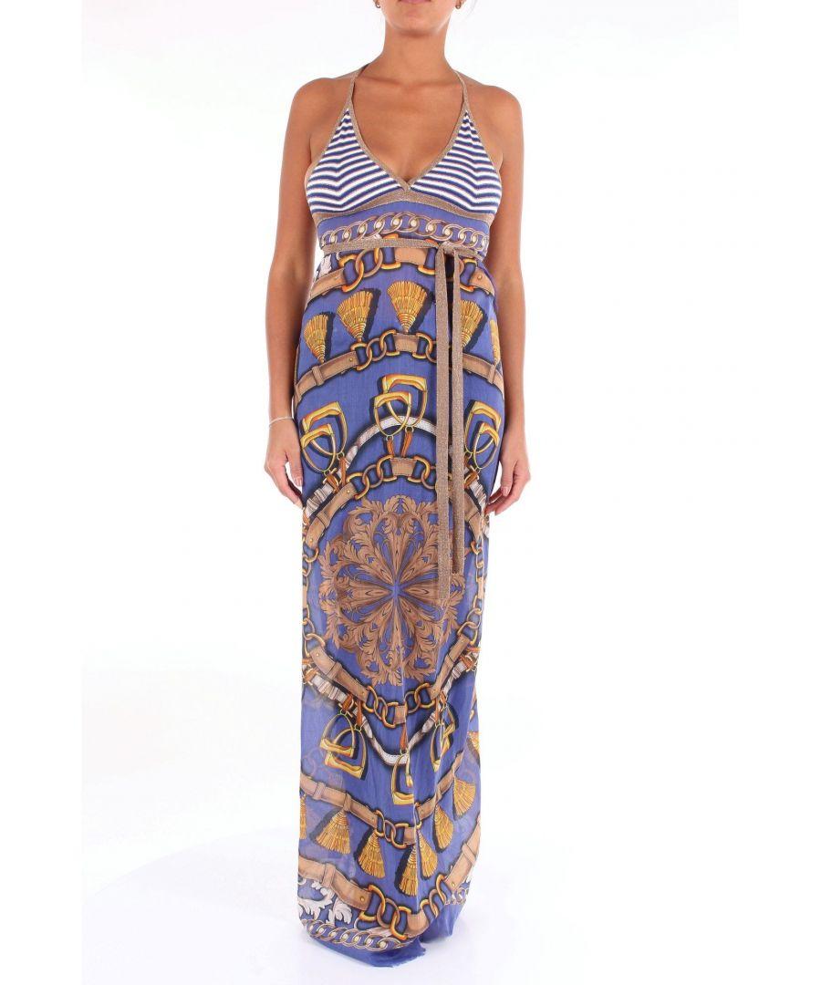 Image for ALTEA WOMEN'S 1951512BLUFANTASIA BLUE VISCOSE DRESS