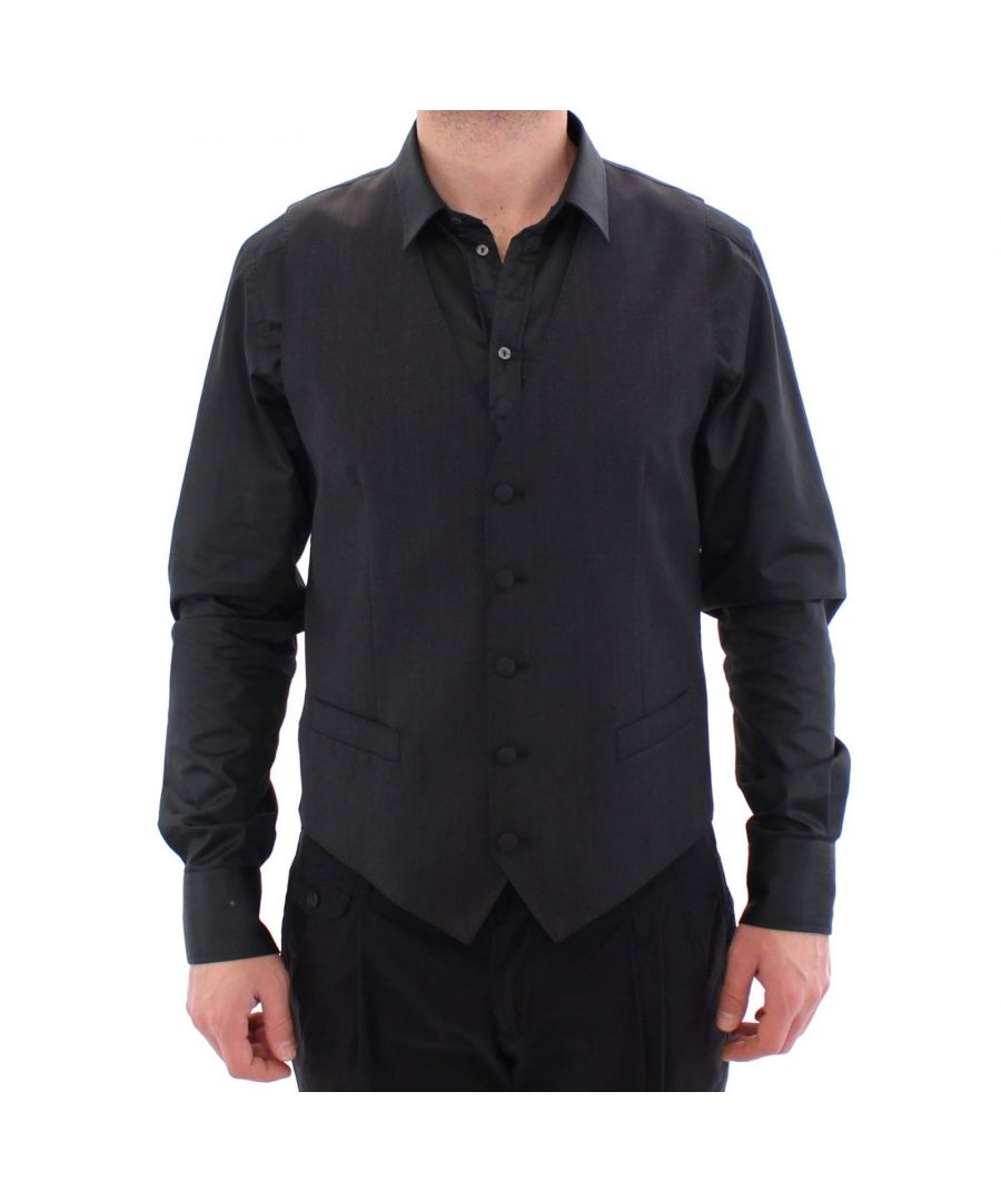 Image for Dolce & Gabbana Gray Wool Blend Formal Dress Vest Gilet