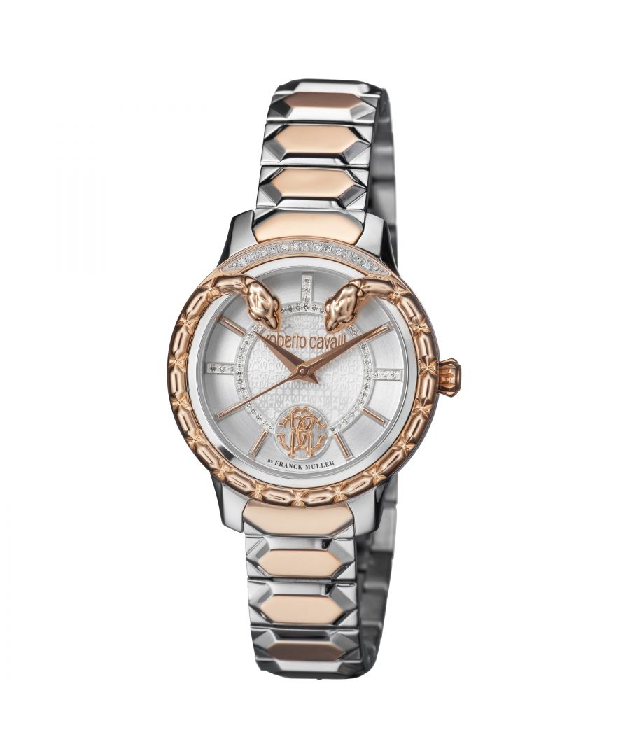 Image for Roberto Cavalli Womens Diamond Silver Dial Watch