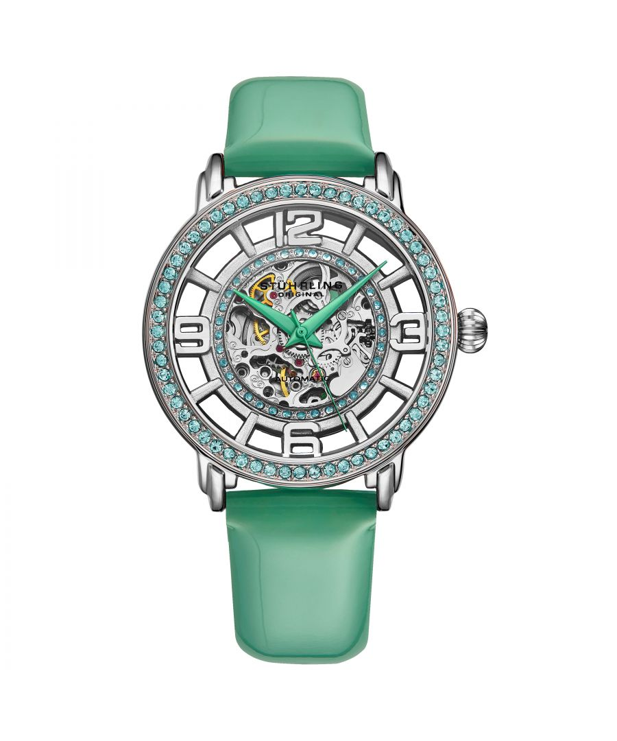 Image for Green Winchester Automatic 38mm Skeleton