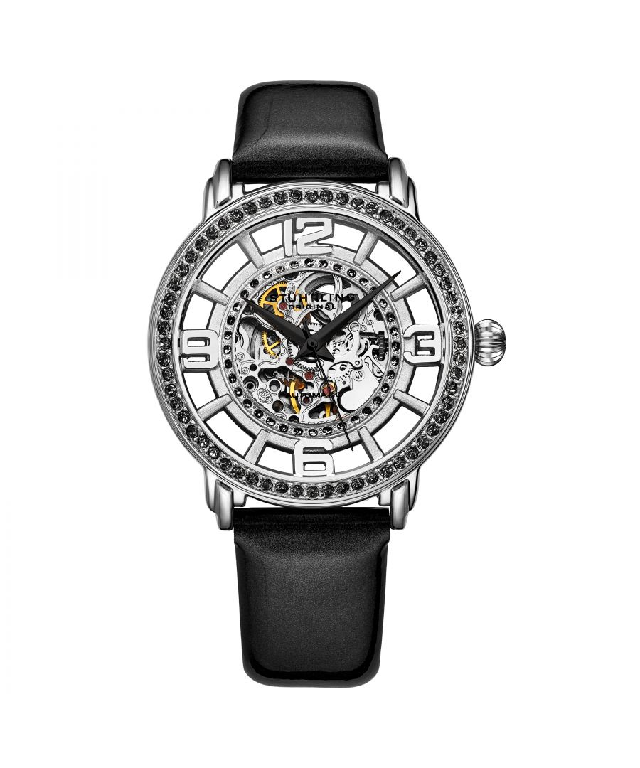 Image for Black and Silver Winchester Automatic 38mm Skeleton