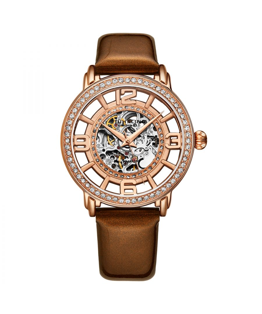 Image for Rose Gold Winchester Automatic 38mm Skeleton