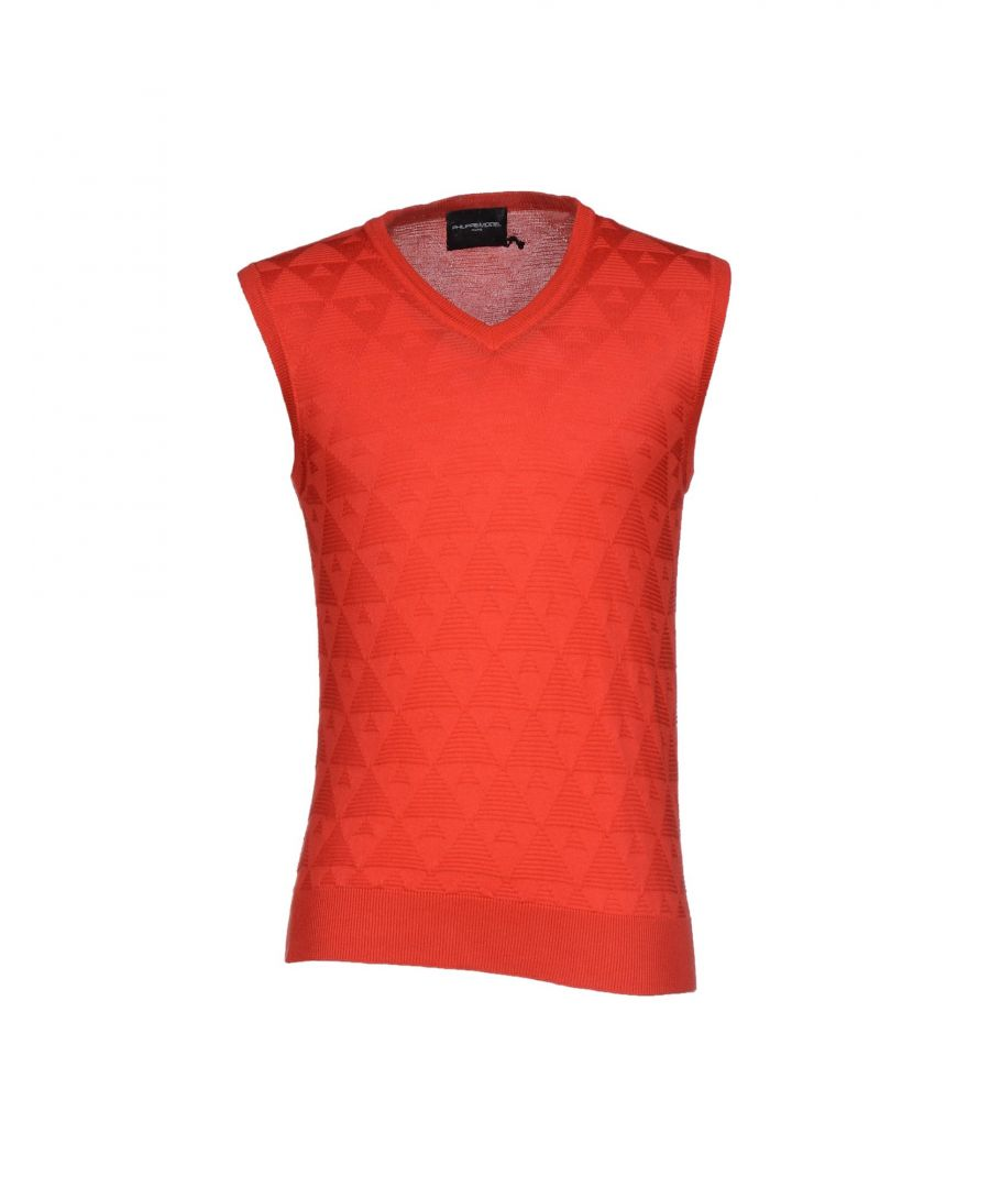 Image for Philippe Model Red Cotton Knit