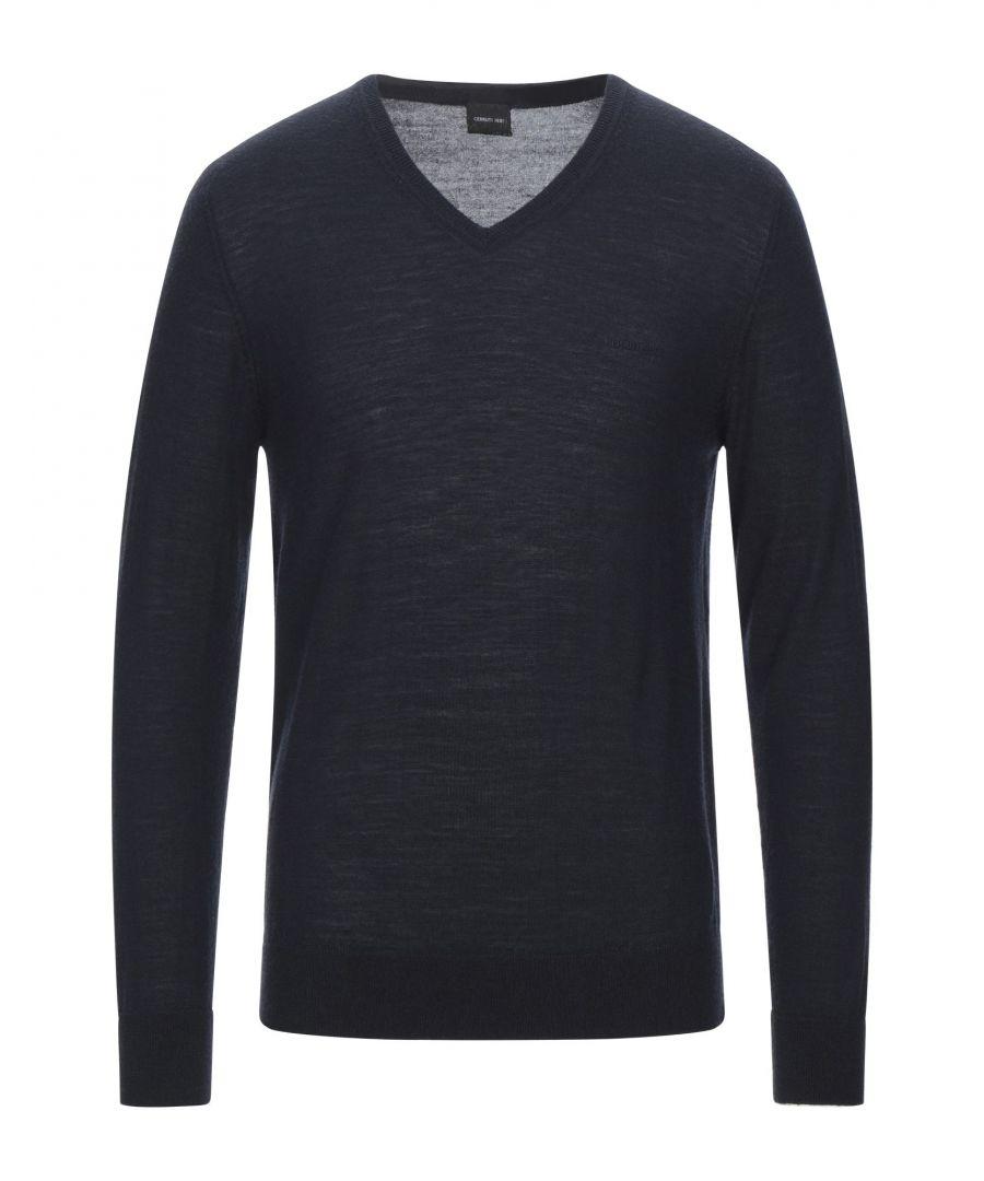 Image for Cerruti 1881 Dark Blue Merino Wool Jumper