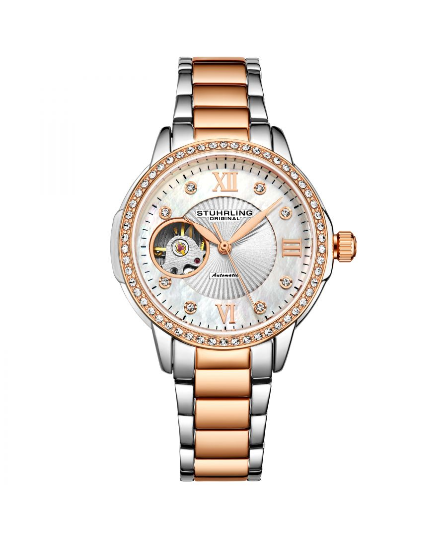 Image for Silver and Rose Gold Perle Automatic 36mm