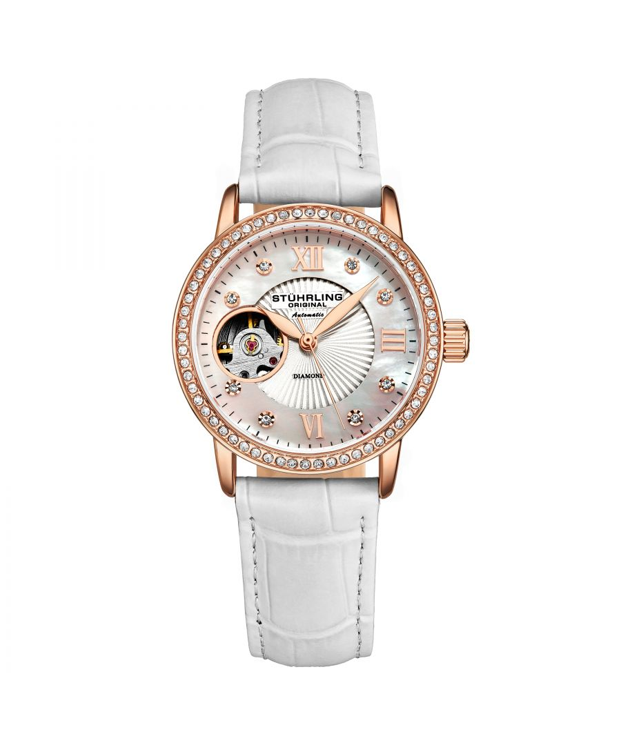 Image for White and Rose Gold Legacy Automatic 34mm