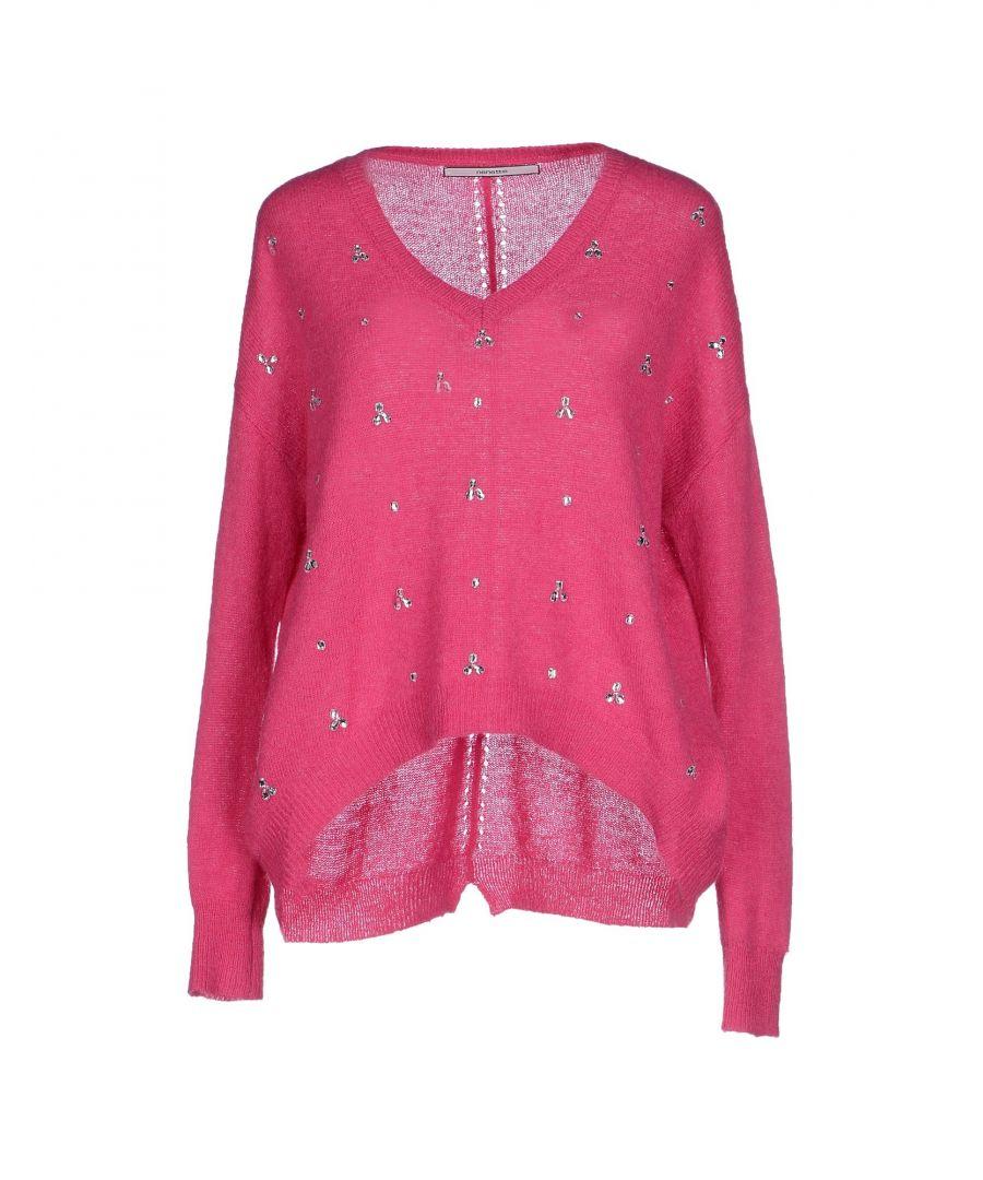 Image for Nenette Fuchsia Wool Embellished Jumper