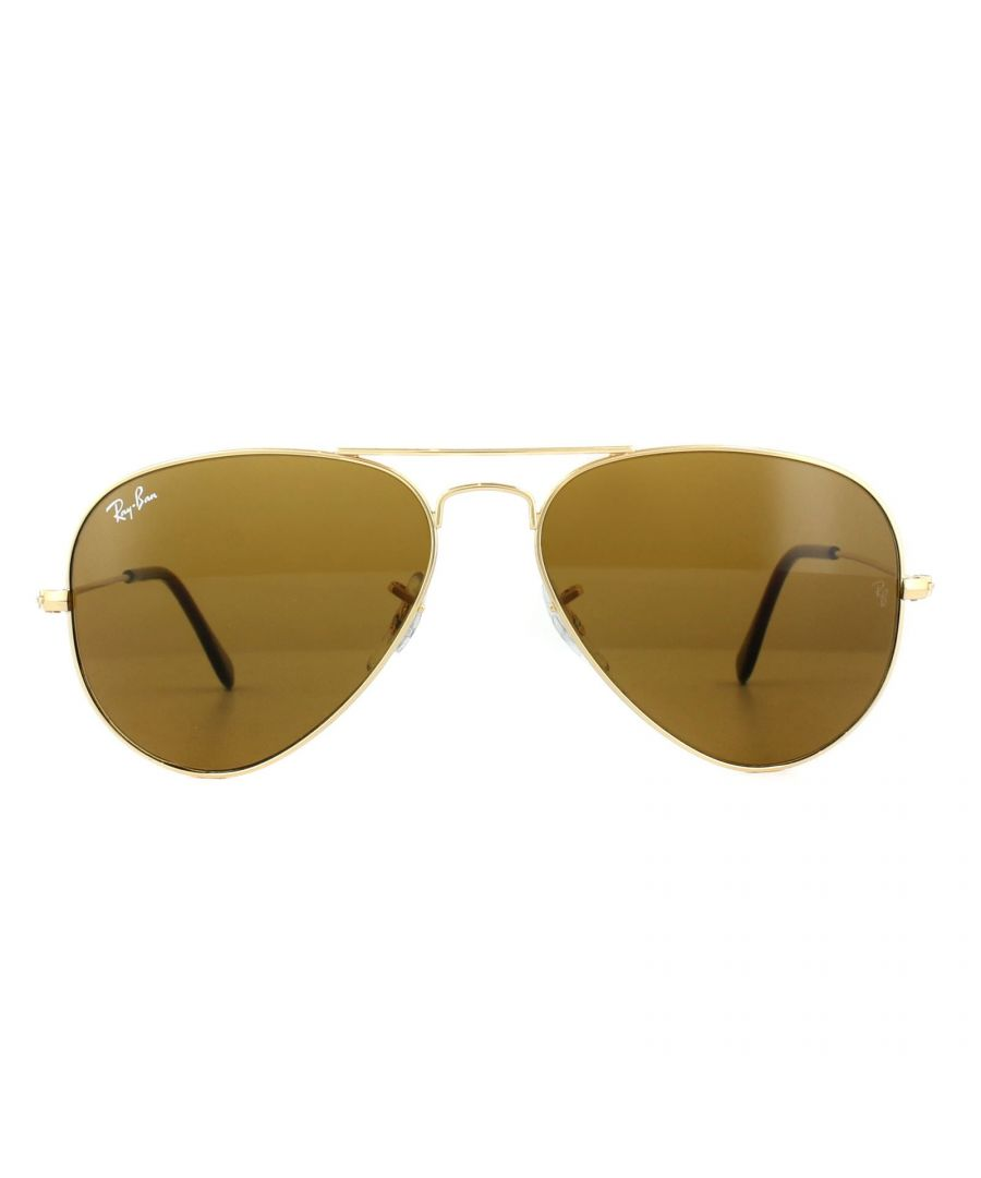 Image for Ray-Ban Sunglasses Aviator 3025 001/33 Gold Brown 58mm