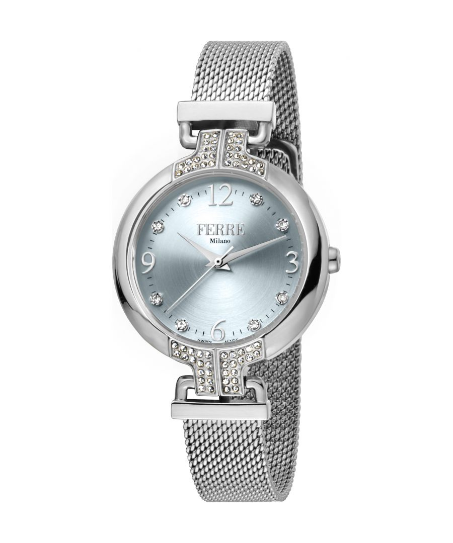 Image for Ferre Milano Ladies Silver Dial  Mesh Watch