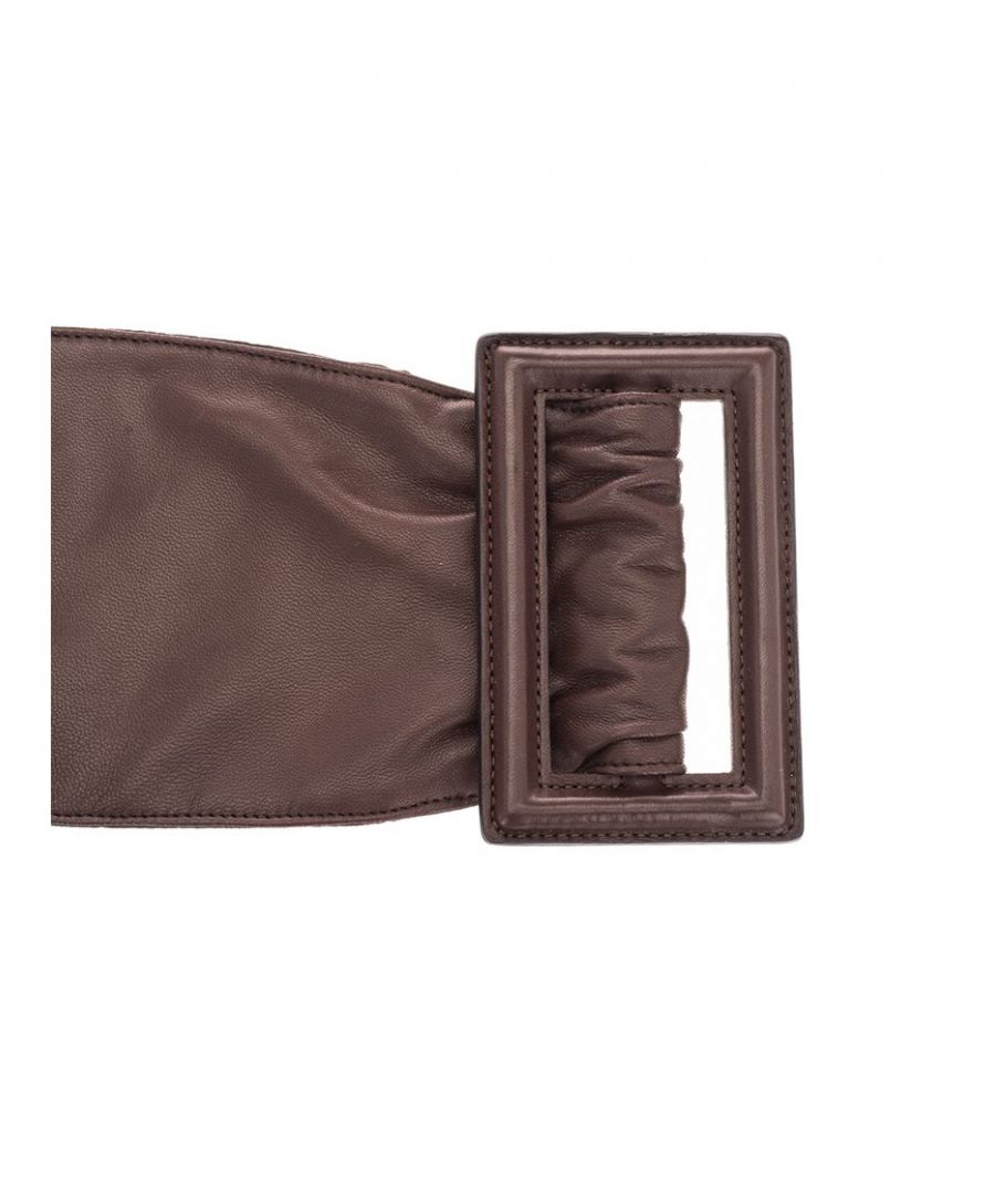 Image for BRUNELLO CUCINELLI WOMEN'S M0TANC904C7696 BROWN LEATHER BELT