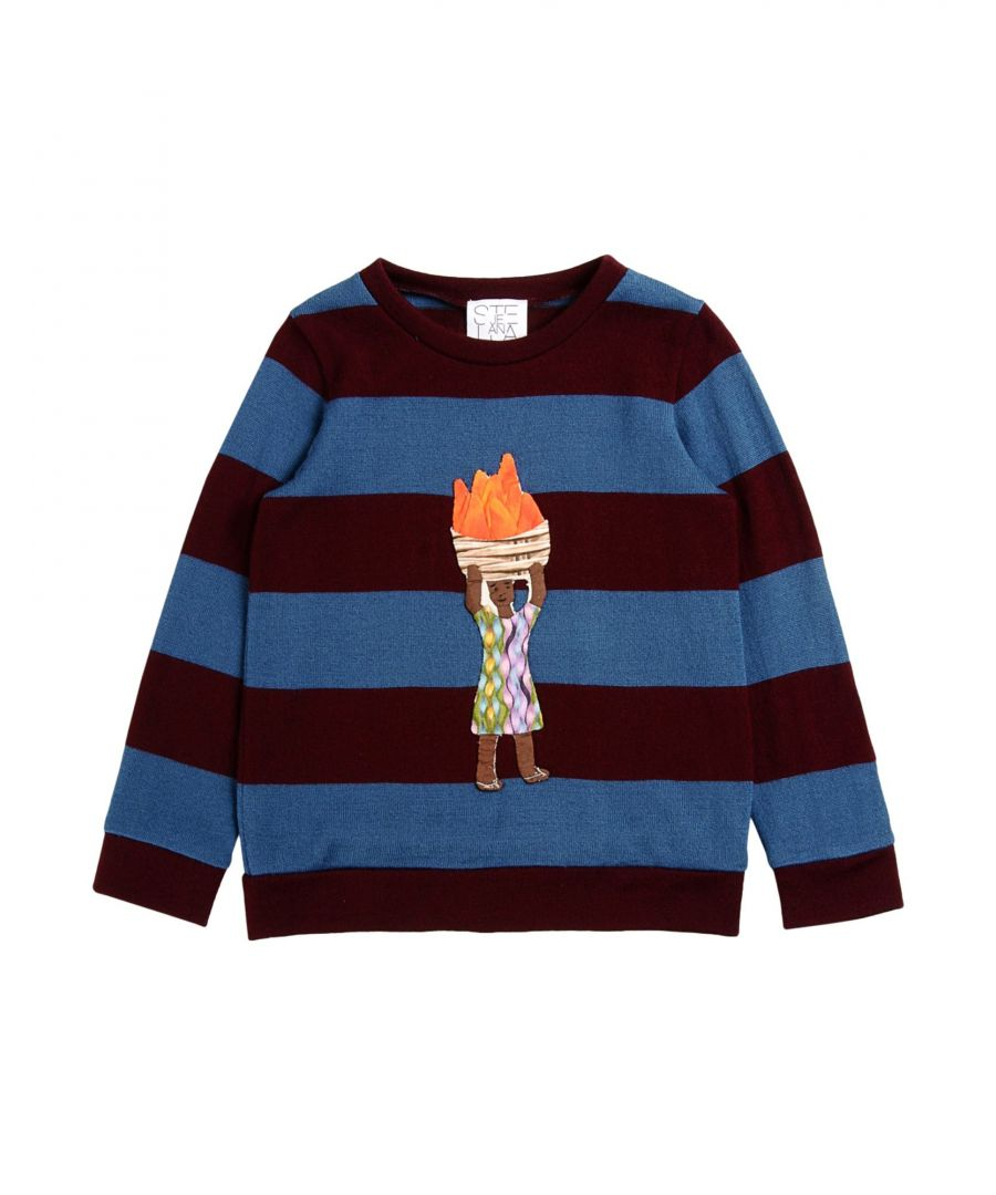 Image for Stella Jean Girl Jumpers Maroon Textile fibres
