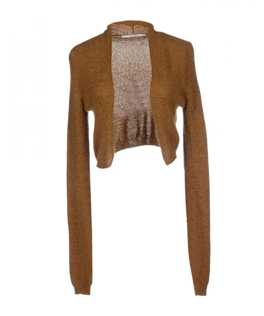 Image for Nenette Woman Wrap cardigans Khaki Mohair wool