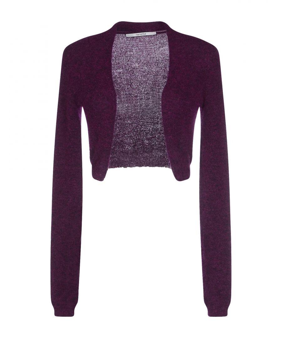 Image for Nenette Woman Wrap cardigans Garnet Mohair wool