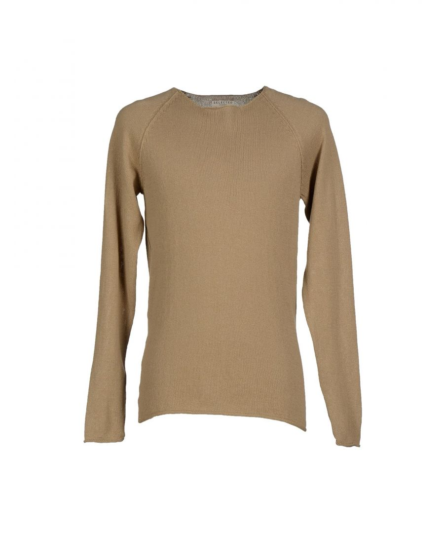 Image for KNITWEAR Man Selected Homme Khaki Cotton