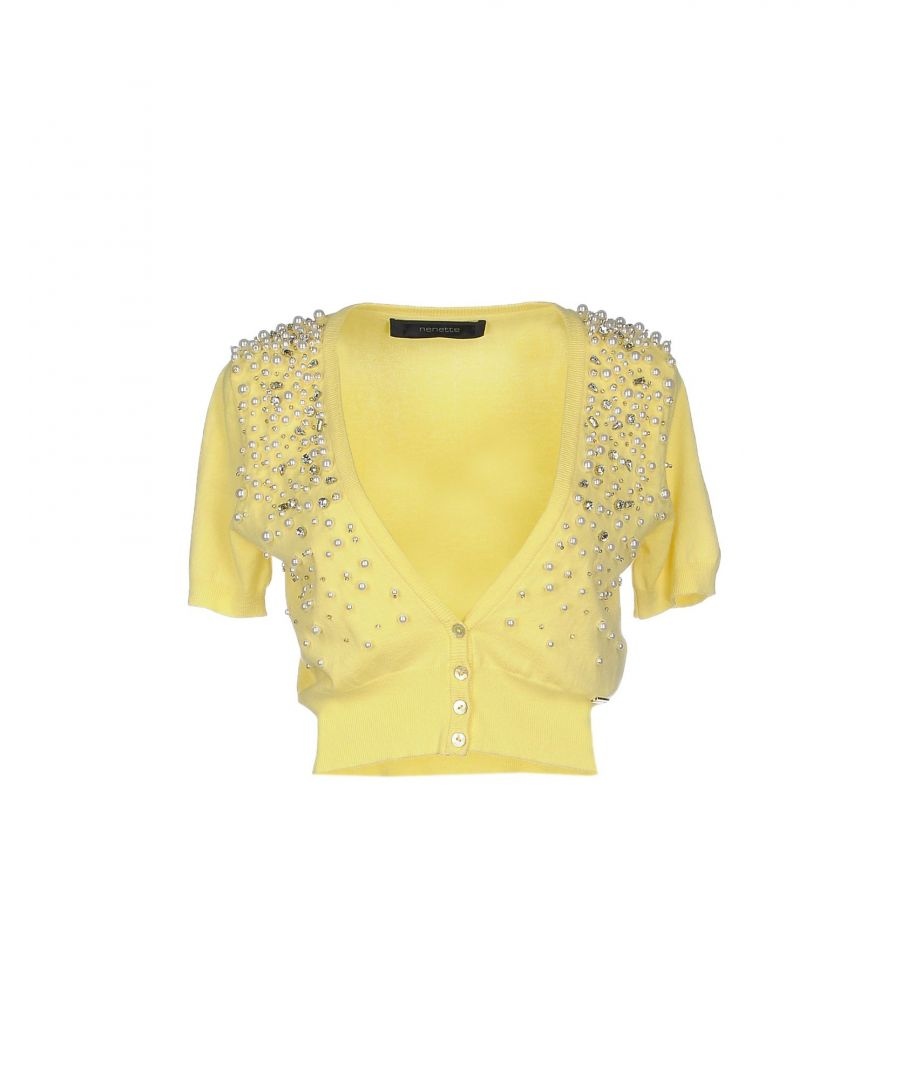 Image for Nenette Woman Wrap cardigans Yellow Viscose