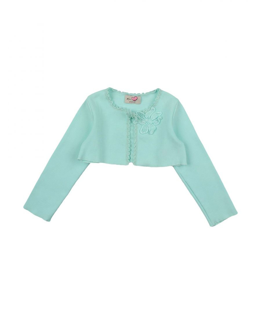 Image for KNITWEAR Ki6? Who Are You? Turquoise Girl Cotton