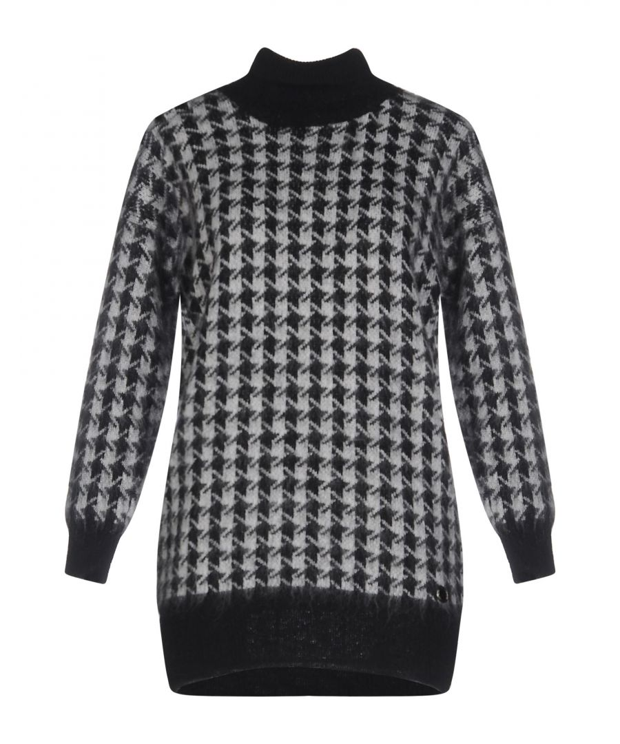Image for Nenette Black Houndstooth Jumper