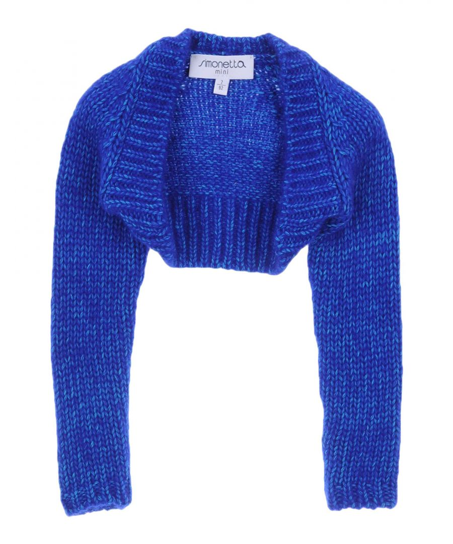 Image for KNITWEAR Girl Simonetta Mini Bright blue Cotton