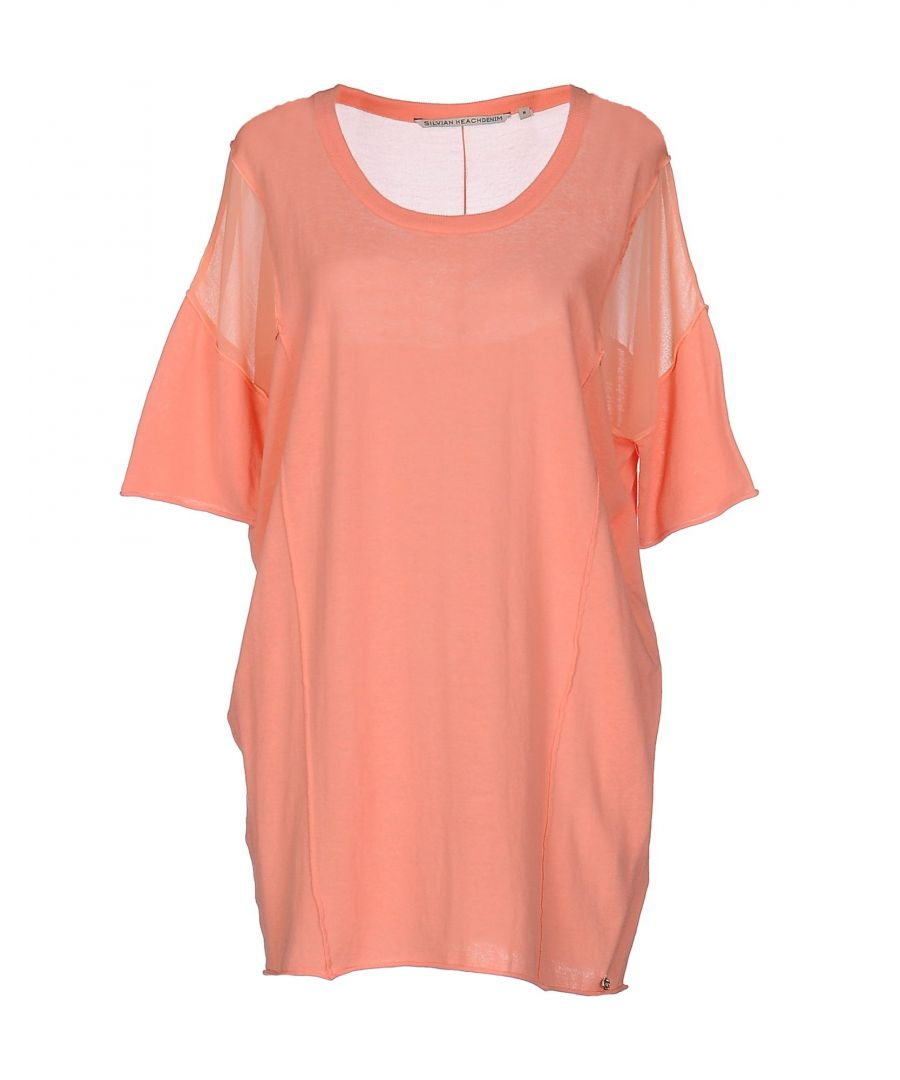 Image for Silvian Heach Salmon Pink Cotton Knit