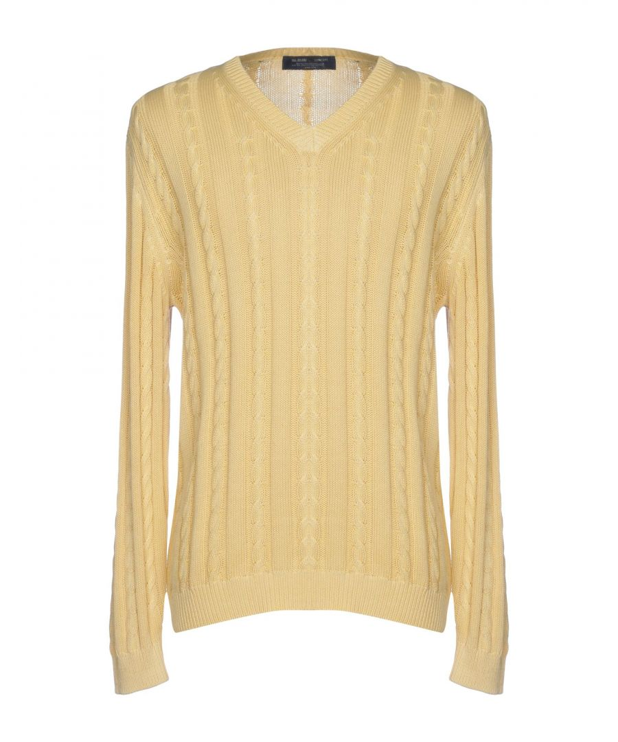 Image for Pal Zileri Concept Yellow Cotton Lightweight Knit Jumper