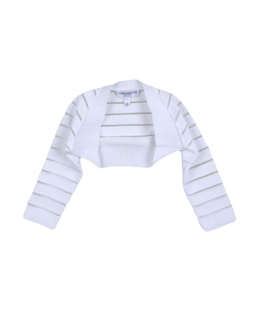 Image for Simonetta Tiny Girl Wrap cardigans White Cotton