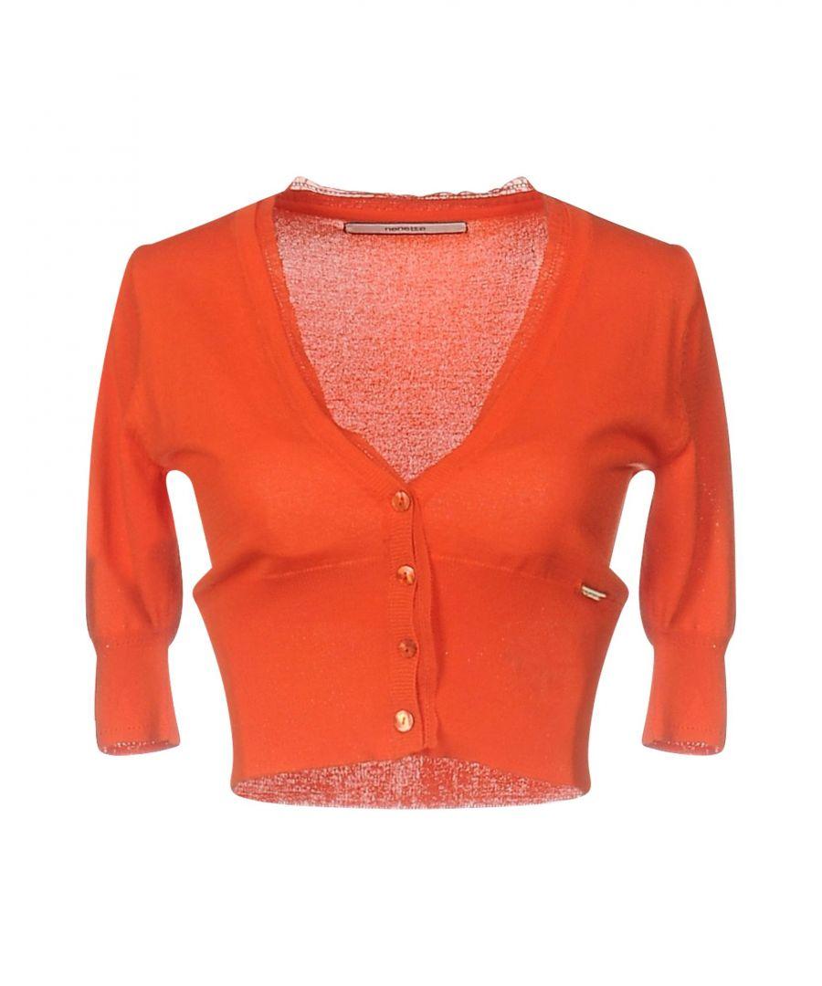 Image for Nenette Orange Knit Cardigan