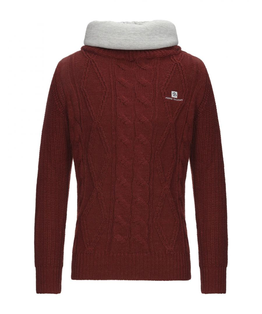 Image for Pierre Balmain Brick Red Wool Knit Jumper